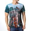 Мужские 3d печатные современные модели города Случайные пуловеры Красочные футболки пуловеры