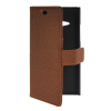 MOONCASE Slim Leather Side Flip Wallet Card Slot Pouch with Kickstand Shell Back чехол для Nokia Lumia 730 Brown mooncase smooth skin leather bottom flip pouch чехол для nokia lumia 730 white