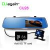 CU28 DVR 5 '' Ночное видение ADAS HD 1296P Автомобильная камера с двойным зеркалом заднего вида Dash Cam G-Sensor Стояночный рекордер
