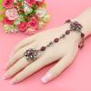 Новые турецкие браслеты и кольца Женские антикварные золотые украшения Бижутерия Изысканный хрустальный браслет для рук Индийский