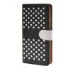 MOONCASE горошек Слот карты Кожаный чехол Чехол Подставка Shell чехол для Apple IPhone 6 Plus (5,5 дюйма) Черный белый mooncase чехол