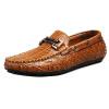 Дышащий Мужчины кожаные ботинки вскользь Тапочки лыской кросовки