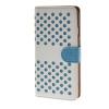 все цены на  MOONCASE горошек Слот карты Кожаный чехол Чехол Подставка Shell чехол для Apple IPhone 6 (4,7 дюйма) белый синий  онлайн