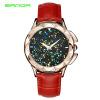 SANDA роскошные кожаные кварцевые часы женские часы женские женские наручные часы