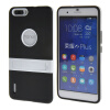 MOONCASE Huawei Дело Желе Цвет силиконовый гель ТПУ Тонкий с подставкой обложка чехол для Huawei Honor 6 Plus Черный