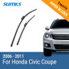 SUMKS Wiper Blades for Honda Civic Coupe 28&24 Fit Push Button Arms 2006 2007 2008 2009 2010 2011 motorcycle left crankcase for honda cbr600rr 2007 2008 2009 2010 2011 engine stator crank case generator cover