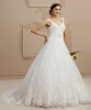 Лучшие дизайнерские платья для свадебных платьев V V-образные вышитые платья из тюль-тюля из тюль-бисера с бисером тюль
