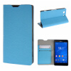 MOONCASE Sony Xperia Z3 Compact ( Z3 Mini ) ЧЕХОЛ ДЛЯ Flip Leather Wallet Card Holder Bracket Back Pouch Blue чехол deppa air case для sony xperia z3 розовый 83140