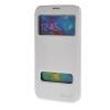 MOONCASE Samsung Galaxy S5 I9600 чехол для View Slim Leather Flip Pouch Bracket Back Cover White
