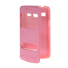 MOONCASE View Window Leather Side Flip Pouch Shell Back ЧЕХОЛДЛЯ Samsung Galaxy Core Plus G3500 / Trend 3 G3502 Pink