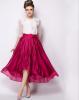 Lovaru ™Темперамент цветом шифон юбки станции Европа 2 015 лето новая мода высокая талия юбки юбки зонтик юбки