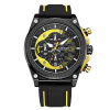 MEGIR Quartz Men Sport Watch Big Dials Silicone Strap Army Military Watches Clock Men Chronograph Wristwatches Relogio Masculino forsining men luxury mechanical watches men s sports tourbillon automatic watch rubber strap auto date week month calendar clock