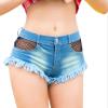 Цянь Сюй одежды летом 2018 года ретро разорванной дыры полоски джинсовые шорты женские случайные карманные джинсы шорты плюс разме