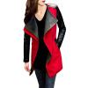 CT&HF Мода Осень Зима Пальто Женщины Длинные рукава PU и шерсть Верхняя одежда детская верхняя одежда pu