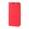MOONCASE Litch Skin Leather Side Flip Wallet Card Slot Pouch Stand ЧЕХОЛДЛЯ Samsung Galaxy S6 Red luxury stand flip