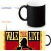 Johnny Cash Morphing Mug Color Change Tea Cup  Magic Milk Coffee Mug термокружка emsa travel mug 360 мл 513351