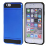 MOONCASE ЧЕХОЛ ДЛЯ iPhone 6 / 6S (4.7) Soft Silicone Gel TPU Skin With Card Holder Protective Dark Blue чехол для iphone interstep для iphone x soft t metal adv красный