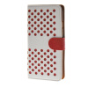 MOONCASE горошек Слот карты Кожаный чехол Чехол Подставка Shell чехол для Apple IPhone 6 (4,7 дюйма) белый красный mooncase фланель стиль слот карты кожаный чехол чехол ��одставка shell b чехол для apple iphone 6 4 7 дюйма красный