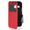 MOONCASE View Window Leather Side Flip Wallet Card Slot Pouch Stand Soft Shell чехол для Htc One Mini 2 ( M8 Mini ) Red mooncase slim hard board leather side flip wallet stand pouch чехолдля htc one m9 red
