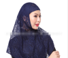 Цянь Сюй Мусульманские платки Исламский футболка с черными трусами женщин черного тюрбана сразу покрыл весь мусульманский платок в