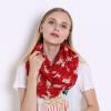 Шарфы для женщин Voile Infinity Collar Кольцо Шарф Оленьей шкуры Печать Роскошные марлевые шарфы JeouLy Echarpes Foulards Femme