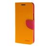купить MOONCASE Cross pattern Leather Flip Wallet Card Slot Stand Back чехол для HTC One E9+ E9 Plus Yellow недорого
