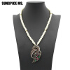Этнические подвесные ожерелья для женщин Турецкие винтажные бисера Ювелирные изделия Античные золотые цветные подвески для цветов