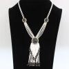 Роскошная женская бисера Многоуровневая кисточка с длинным ожерельем Турецкая смола из бисера Цепочка с цепочкой из ожерелья Нигер
