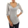 CT&HF Женщины Повседневная Хлопок T-Shirt пуловер Толстовка