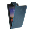 MOONCASE Smooth skin Leather Bottom Flip Pouch чехол для Huawei Ascend P7 Blue mooncase smooth skin leather bottom flip pouch чехол для nokia lumia 730 blue