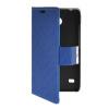 MOONCASE Slim Leather Side Flip Wallet Card Slot Pouch with Kickstand Shell Back чехол для Huawei Ascend Y550 Blue синий slim robot armor kickstand ударопрочный жесткий корпус из прочной резины для vivo x9plus