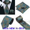n-0519 Vogue мужчин шелковым галстуком установили зеленый пейсли галстук платок запонки набор связей для мужчин официальный свадебный бизнес оптом купить шифер оптом в липецке