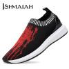 Мужская обувь Ishmaiah Легкие удобные сетчатые ботинки Модные спортивные костюмы Обувь Мужская обувь F02 Red 40 мужская обувь