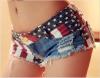 Цянь Сюй европейский стиль джинсы шорты ретро высокой талии закрыты джинсы шорты уличная одежда сексуальное лето весна осень