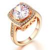 Кольцо с высоким качеством кубика обручальное Белое розовое золото покрыло кольцо венчания кольца CZ оптовые ювелирные изделия способа R071 / R111