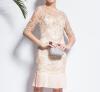 Lovaru ™2015 лето новый модный бренд одежды вышитые кружева юбка плиссированные юбки женщины вскользь платье