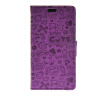 MOONCASE Cute Little Witch Leather Side Flip Wallet Card Holder Stand Pouch ЧЕХОЛ ДЛЯ Huawei Ascend Y520 Purple