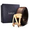 GOLF гольф носить кожаные мужские пояса автоматические пряжки ремня ремень P489633 черные ящики пьер карден мужские ремни кожа гладкая пряжки джокер пояса мужские пряжки простые кожаные ремни досуг бизнес