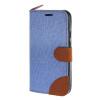 MOONCASE Moto G 2nd Gen , Leather Wallet Flip Card Holder Pouch Stand Back ЧЕХОЛ ДЛЯ Motorola Moto G 2nd Gen Blue fiio clear back cover for x3 2nd gen c03