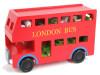 Фото Новая деревянная детская игрушка блоков автобус лондонская автобус детская игрушка детская образовательная игрушка игрушка