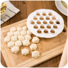 Cntomlv 1Pcs Кухонная техника для выпечки DIY White Plastic Dumpling Mold Maker Тестовое прессование пельменей 19 отверстий Пельме kitchen pastry tools diy white plastic dumpling mold maker