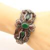 Урожай женщин цветок браслет манжеты турецкий смолы браслет ювелирные изделия античный золото цвет невесты браслеты партии свадьбы