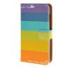 MOONCASE ЧЕХОЛ ДЛЯ Microsoft Lumia 435 Rainbow Pattern Leather Flip Wallet Card Holder with Kickstand Back A05 mooncase чехол для microsoft lumia 435 blue leather flip wallet card holder with kickstand back a06