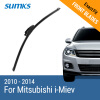 SUMKS Wiper Blades for Mitsubishi i-Miev 28 Fit Hook Arms 2010 2011 2012 2013 2014 aluminium alloy fabric rear trunk security shield cargo cover for mitsubishi pajero sport 2012 2013 2014 2015