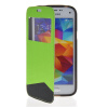 MOONCASE View Window Leather Side Flip Wallet Card Slot Pouch Stand Soft Shell Back чехол для Samsung Galaxy S5 Mini Green mooncase soft silicone gel side flip pouch hard shell back чехол для samsung galaxy s6 white