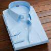 Большой размер Мужская деловая повседневная рубашка с длинным рукавом Белая голубая черная полосатая мужская рубашка с социальным платьем плюс