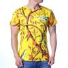 Цветочные печатные O-образным вырезом Пуловеры с короткими рукавами комплект футболок с v образным вырезом 3шт