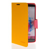 MOONCASE Classic cross pattern Leather Side Flip Wallet Card Pouch Stand Soft Shell Back чехол для LG G3 Yellow mooncase classic cross pattern leather side flip wallet card pouch stand soft shell чехол для motorola moto g hot pink