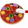 Новые деревянные деревянные деревянные блоки Кухонная игрушка деревянная пицца еда игра детская образовательная игрушка Игрушка для моделирования продуктов питания игрушка
