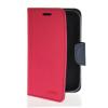 MOONCASE Classic cross pattern Leather Side Flip Wallet Card Pouch Stand Soft Shell  чехол для Motorola Moto E Hot pink